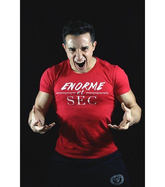 T-Shirts Rouge Enorme et Sec