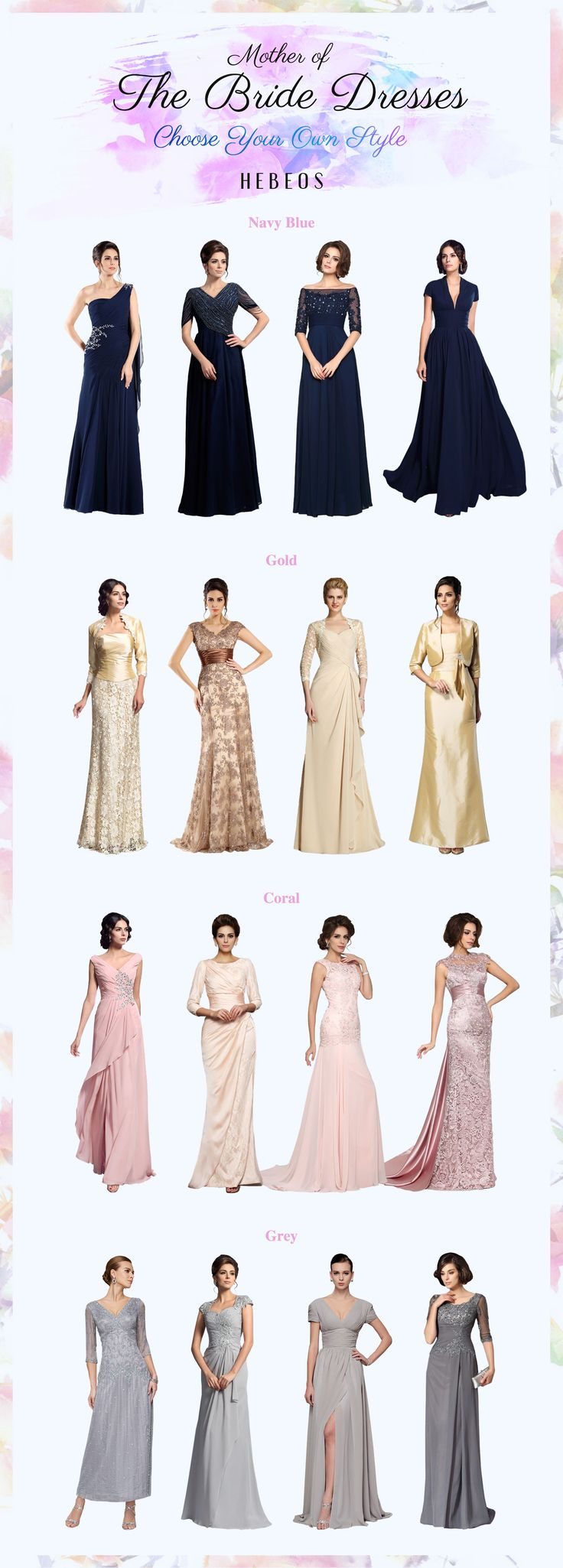 Full mother of the bride dresses 2017 collection from #Hebeos. High quality and truly cheap price. #FormalGown #Gowns