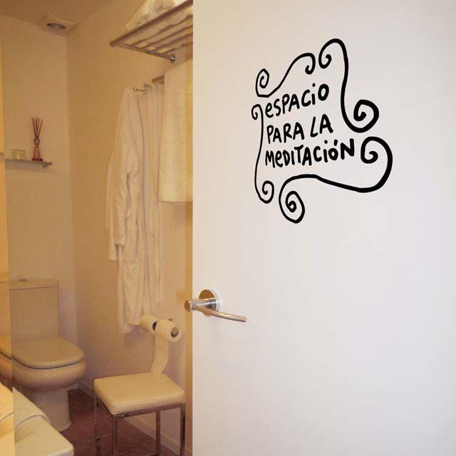 genial para taza de wc! vinilo espacio para la meditación