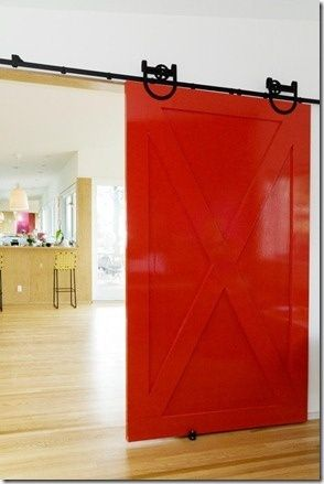 Add a sliding BARN DOOR...without the high gloss! - MyHomeLookBook