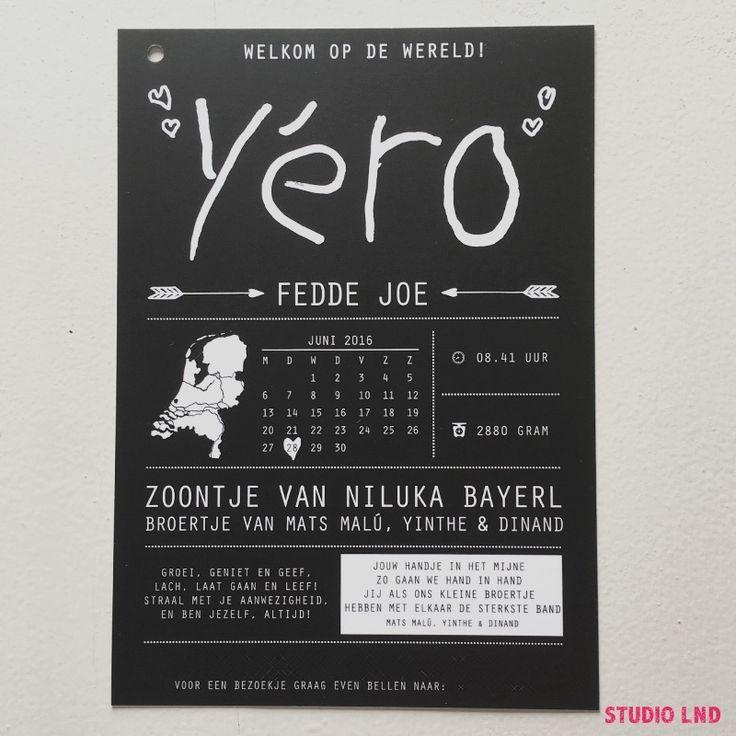 Geboortekaartje Yéro 28/06/2016
