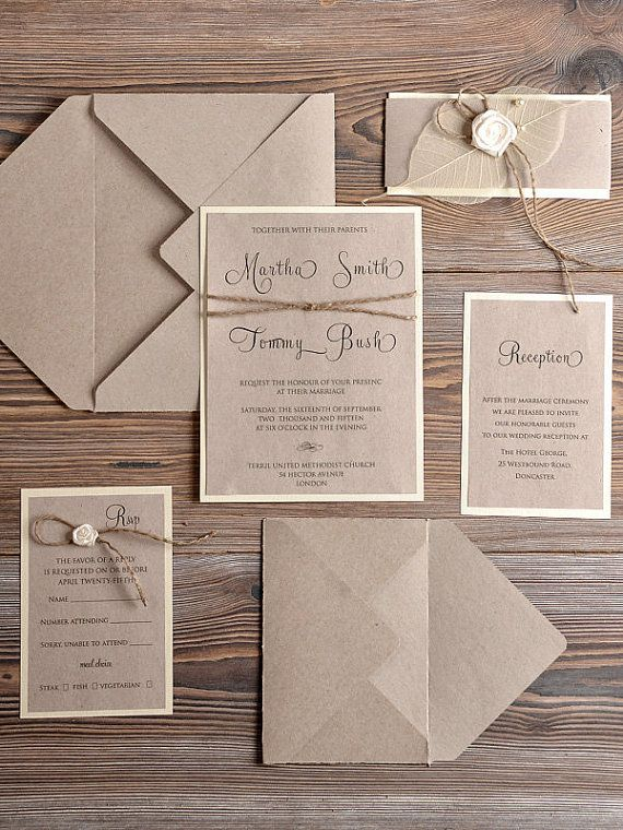 The key to great rustic invites: not over thinking it. Simple is beautiful and elegant.