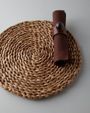 Braided Sea Grass Placemat beach-style-placemats