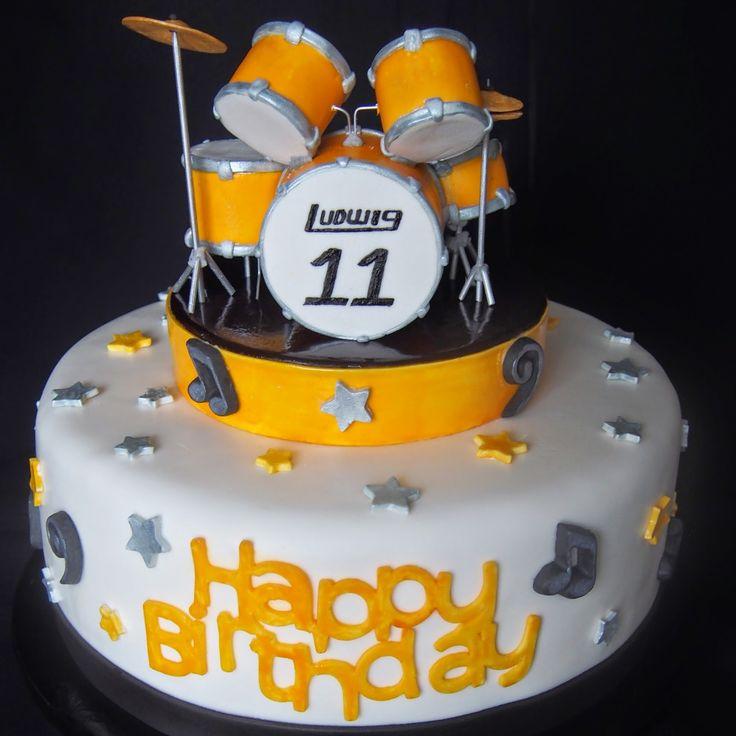 Drum Cake Happy Birthday Josh