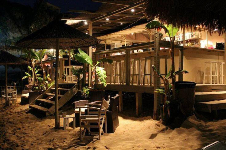 Cova Bar Avithos Beach Kefalonia. One of the many beach bars dotting the coast line.
