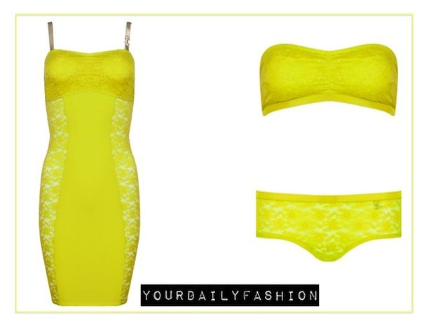 Loving this neon classic lingerie set from Supertrash.