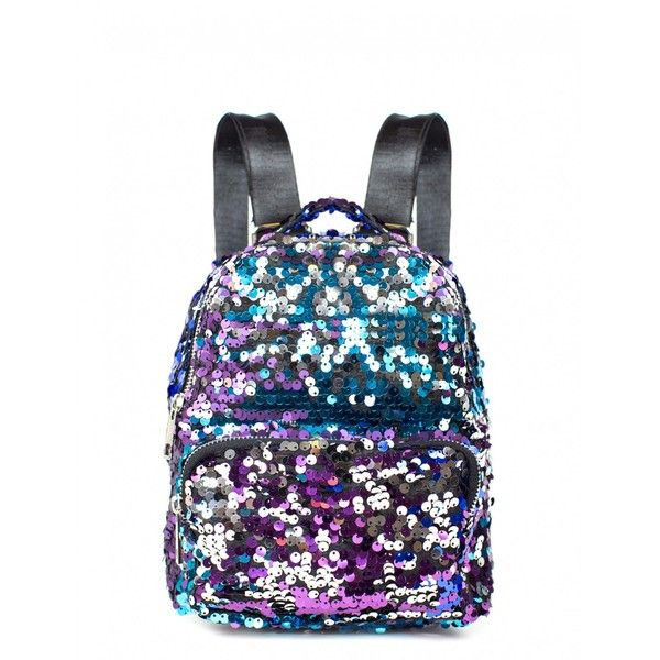 DISCO NIGHTS MINI SEQUIN BACKPACK ($27) ❤ liked on Polyvore featuring bags, backpacks, knapsack bag, mini bag, daypack bag, backpack bags and sequin backpack