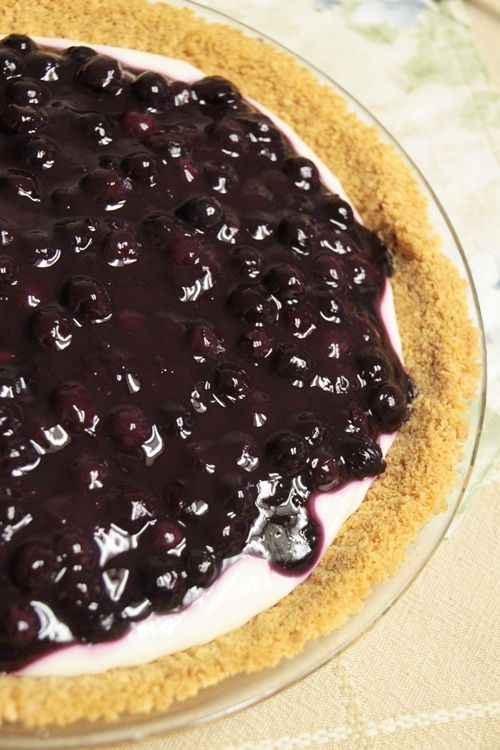 Blueberry Cream Cheese Pie...sounds like something to make for the 4th of July.