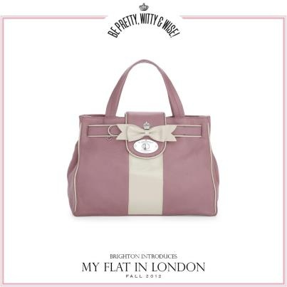 Brighton Handbag My Flat In London Collection Called The Socialite Satchel Color Plum Pudding