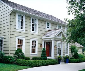 Before after exteriors and home additions colonial homes porticos porches and home for Updated colonial home exterior