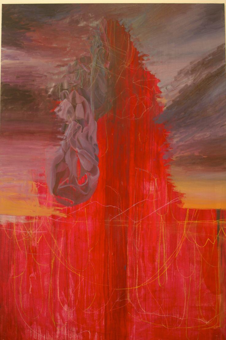 Amanda Robins, work in progress (Chrysalis) 2016, oil on linen