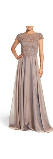 Free shipping and returns on La Femme Embellished Lace & Satin Ballgown at Nordstrom.com. Richly textured lace flecked with crystal jewels defines the demure illusion bodice of this elegant evening gown. The lustrous satin skirt is gathered to create flowing, cascading movement with each step you take.
