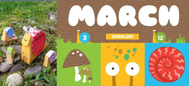March's 3D Snail calendar (additional snail bodies and shells are available on etsy.com/shop/ScoutCreative): Calendar Printable, 3D Printable, Months Club, Creative Printable, Scouts Creative, Club Free, Paper Crafts, Free Printable Calendar, Printable Calendars