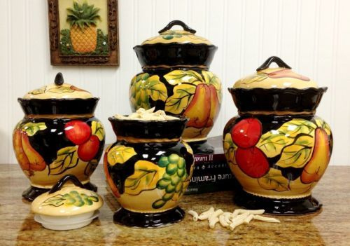 Barcelona-Collection-4-Piece-Hand-Painted-Canister-Set-Tuscan-Italy-Style-Decor