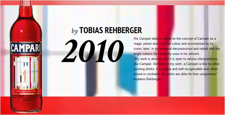 #Campari Limited Edition 2010 designed by #Tobias #Rehberger.