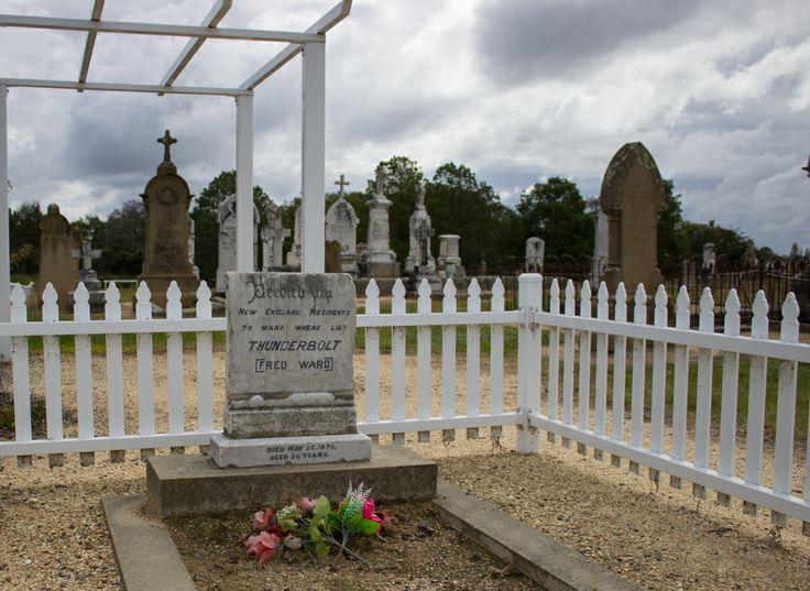 The Bushranger Captain Thunderbolt's grave at Uralla NSW Australia.