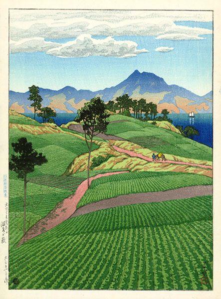 Mt. Onsengatake by Kawase Hasui  ♥ Inspirations, Idées & Suggestions, JesuisauJardin.fr, Atelier de paysage Paris, Stéphane Vimond Créateur de jardins ♥