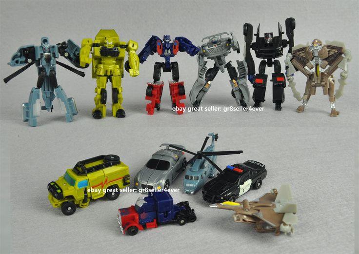 6 pcs Mini Transformers robots PVC figure Infinite Glance Guard Doctor Mu Storm #MENGBADI