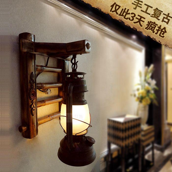 Ucuz antika duvar lambası eski oturma odası yatak odası başucu lamba led…