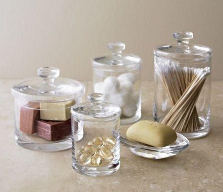 bathroom decorating ideas retro glass accessories