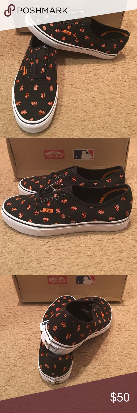 MLB San Francisco Giants Authentic Vans New in box. Black Vans Shoes Sneakers