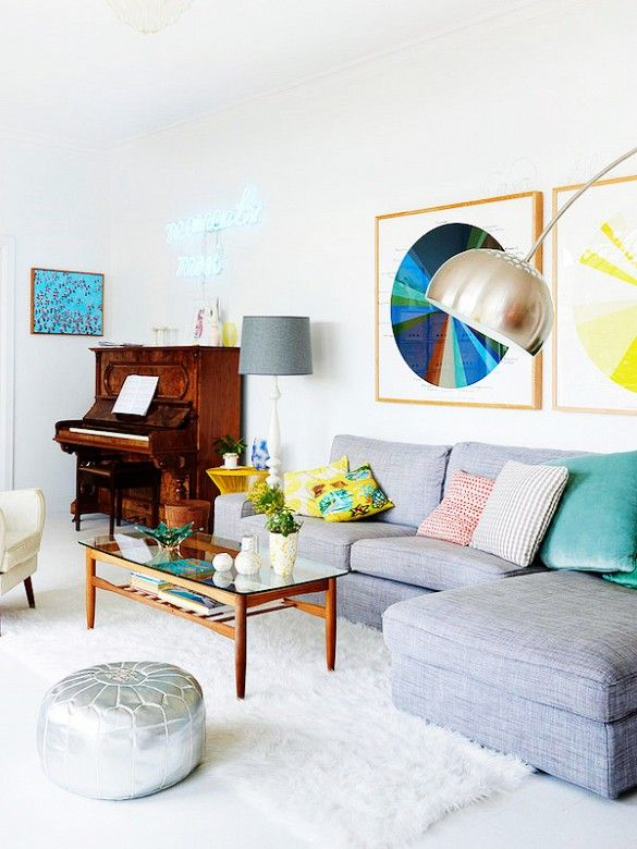 A Bright and Colorful Australian Pad via @domainehome