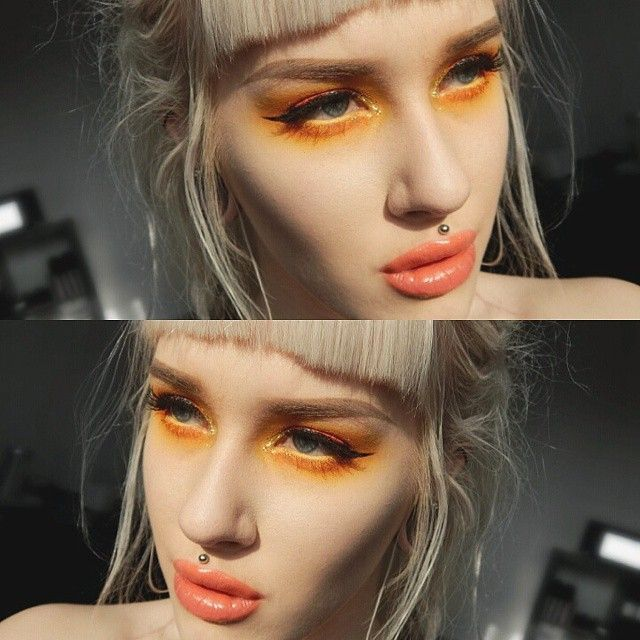 I finally had time to try @anastasiabeverlyhills new waterproof creme colours and i felt that yellow and orange must be nice, and it sure was!
