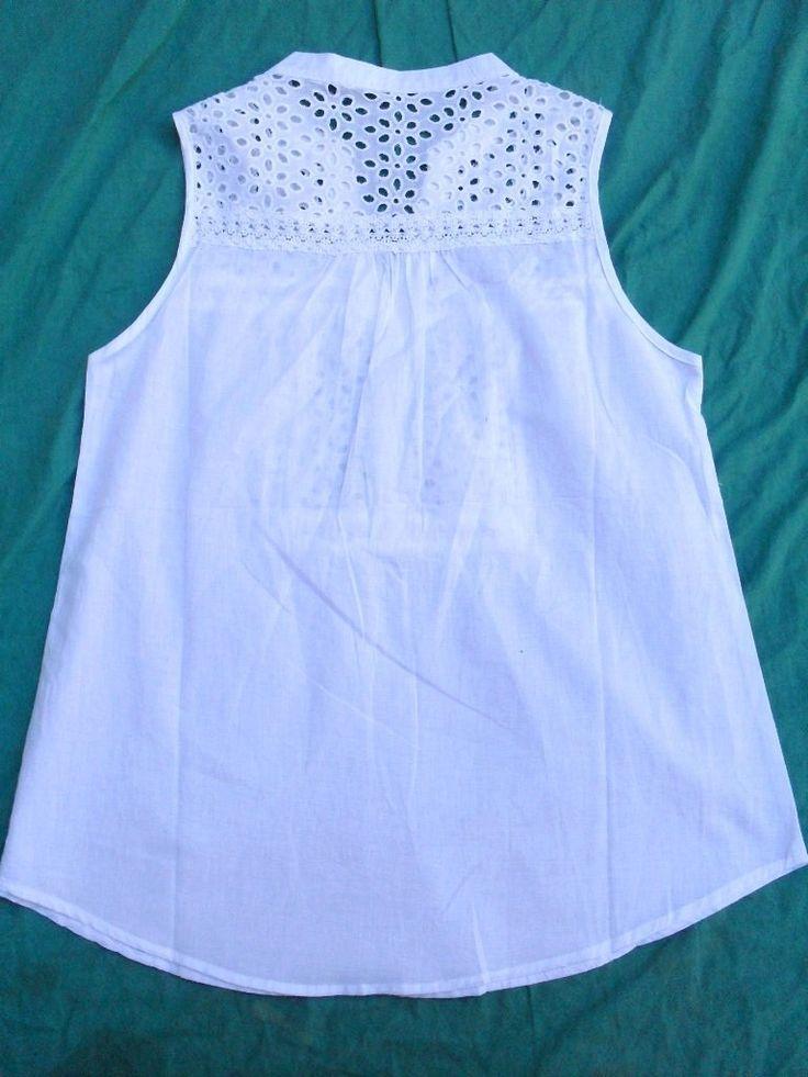 Camisa Blusa Sin Mangas Mujer Blanca Nueva Talle L - $ 310,00 en MercadoLibre