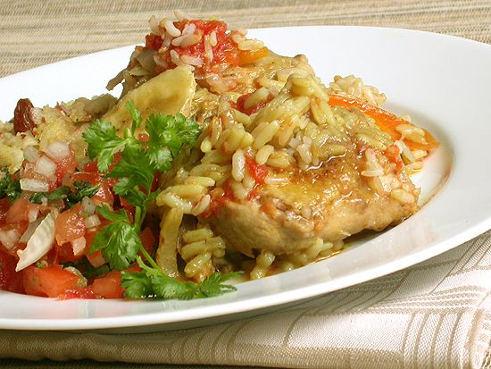 Ina Paarman's Mild Curried Chicken Potjie with Banana