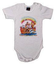 Baby T-Shirt Onesie. Noah's Ark. White | Children's T-Shirts
