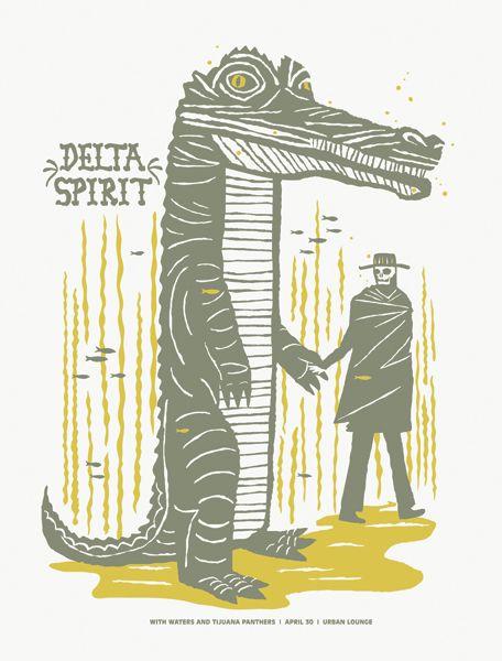 Delta Spirit gig poster by Furturtle Printworks