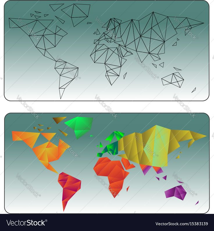 109 best vectors images on pinterest vectors adobe illustrator geometric world map lines and colored in low poly download a free preview gumiabroncs Choice Image