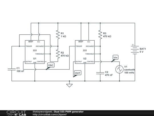 555 PWM generator ADC analogue to digital converter