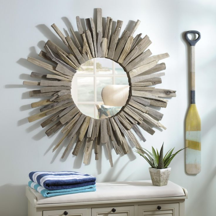 1000 Ideas About Driftwood Mirror On Pinterest Drift Wood Driftwood Candle Holders And Shell