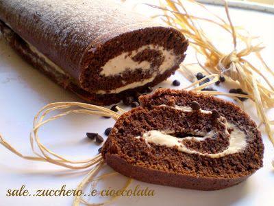 sale zucchero e cioccolata: ROTOLO AL CIOCCOLATO CON CREMA AL MASCARPONE E CAF...