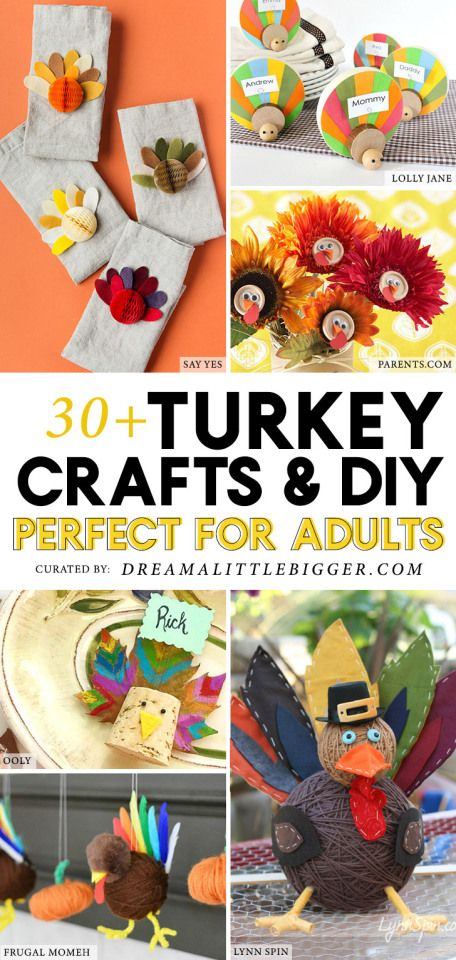 33 Thanksgiving Turkey Crafts For Adults Thanksgiving Day Pinterest