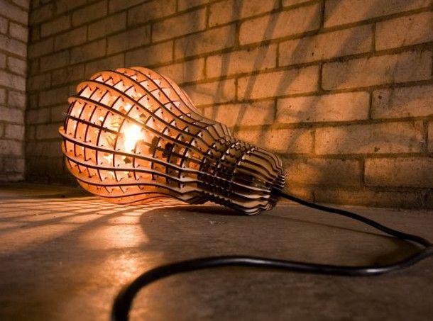 houten lamp van Barend Hemmes