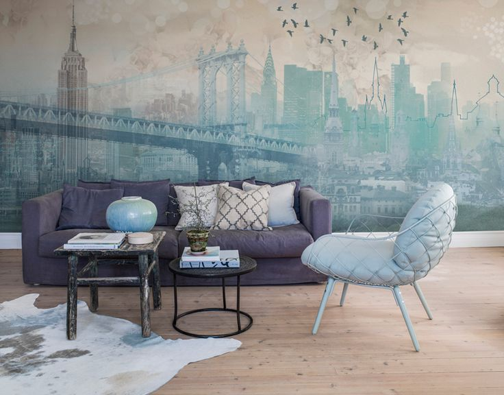 Interiøtips turkis er en trendy farge akkurat nå · photo wallpaperinterior