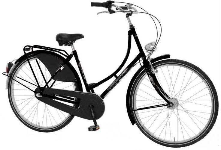 Damen Hollandrad 28 Zoll Nostalgierad Cityrad Hollandfahrrad Fahrrad 3 Gang schwarz