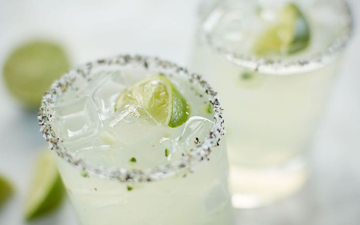Patrón's Perfect Cucumber Margarita: Patrón Silver, fresh lime + English cucumber. Topped with a hint of St. Germain Elderflower liqueur + rimmed with salt + pepper for a perfect finish