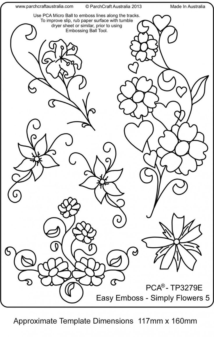 brush embroidery template