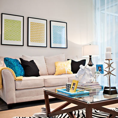 Living Rooms With Yellow