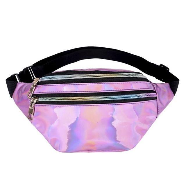 b861cec52fbc Holographic Rave Fanny Pack Waist Bag Belt Bag Music Festival Glam ...