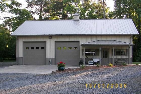 40x30 garage door ideas - metal building with fold up side walls