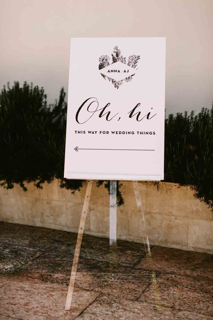 Acrylic, Palm Springs wedding, welcome sign