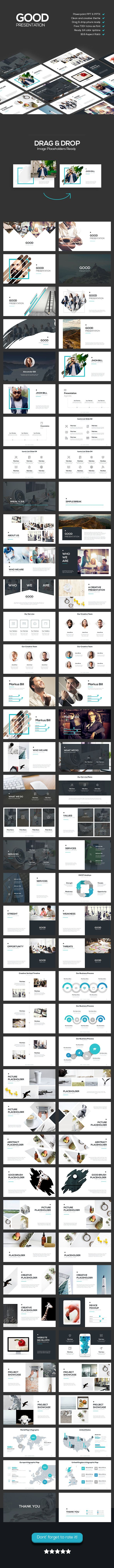 Good - Creative Theme #powerpoint   • Only available here ➝ https://graphicriver.net/item/good-creative-theme/17587186?ref=pxcr