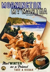 Mornington Mount Martha Victoria Australia Travel poster James Northfield