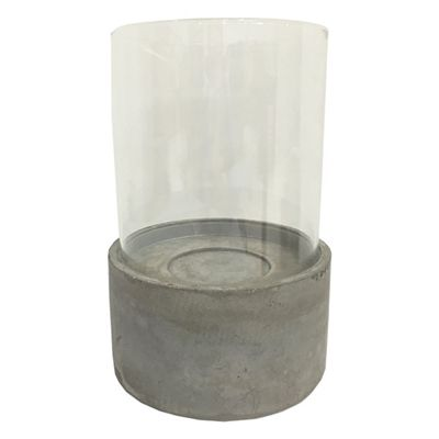 allen + roth 1 Candle Collection Name Stone Hurricane Any Occasion Candle Holder