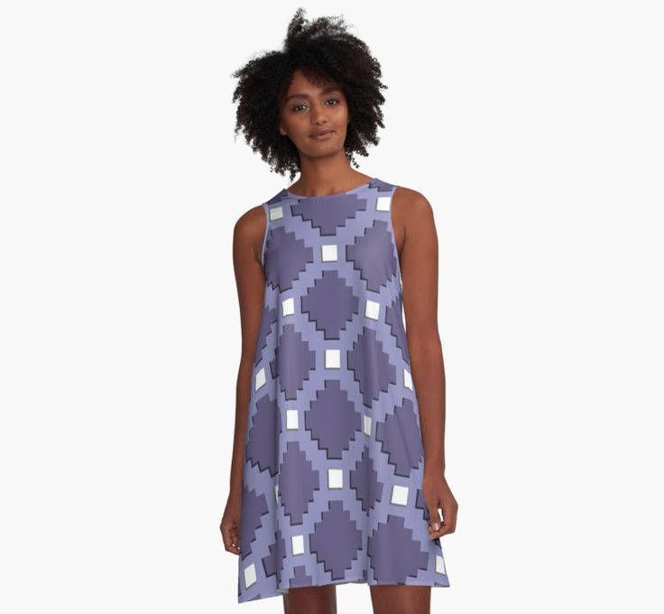 Purple Pixel life, gray, steel color bricks pattern by cool-shirts