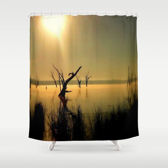 Lake, Dead Trees, Sun, Sun Rays